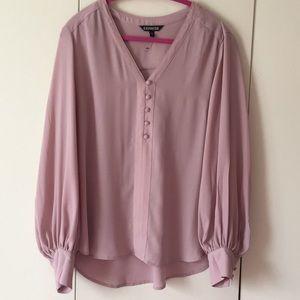 Express romantic rose quartz blouse